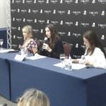 No Brasil, Lauren Kate e Addison Timlin falam sobre os bastidores de Fallen