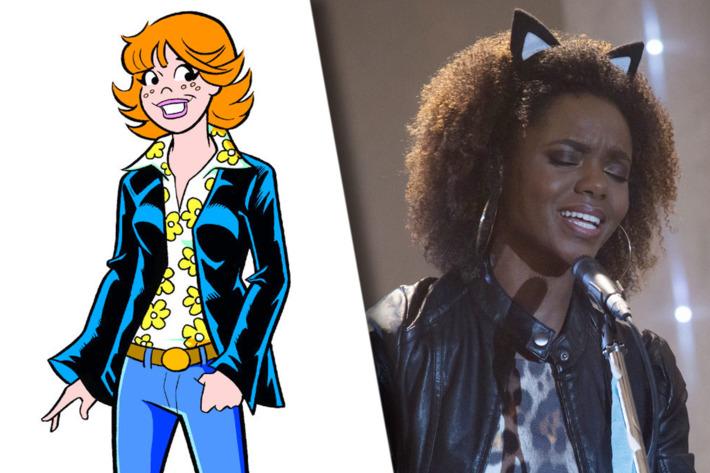 Rumo ao estrelato, Josie (Ashleigh Murray) e as Gatinhas roubam a cena em Riverdale. (Foto: Archie Comics/The CW)