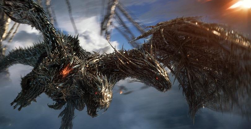 """O dragão de 3 cabeças é uma das coisas mais legais de """"O Último Cavaleiro"""". (Foto: Paramount Pictures)"""