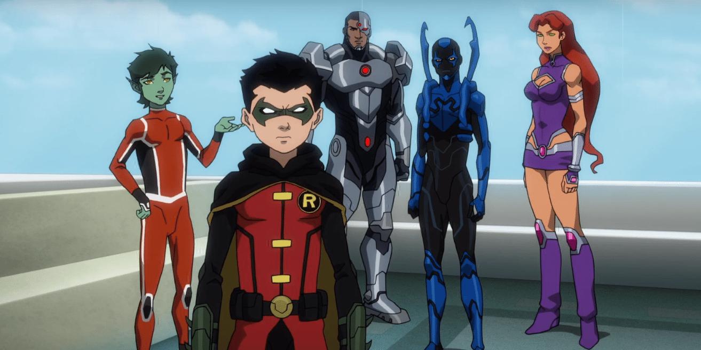 Mutano, Robin, Ciborgue, Besouro Azul e Estelar