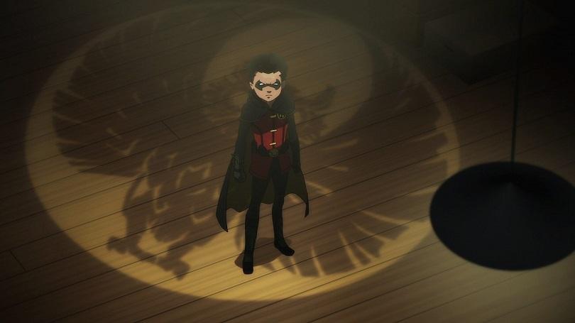 Robin sobre o símbolo da Corte das Corujas