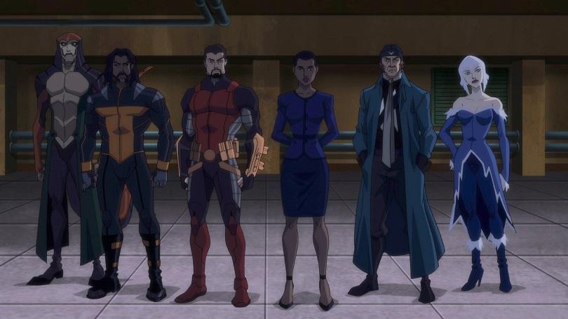 Cobra Venenosa, Tigre de Bronze, Pistoleiro, Amanda Waller, Capitão Bumerangue e Nevasca
