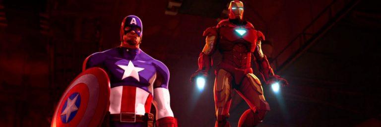 Super-Heróis Unidos: Homem de Ferro e Capitão América avante contra Hidra