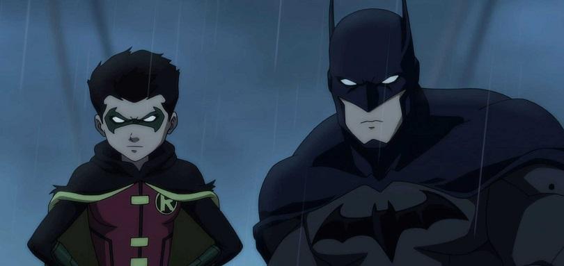Damian Wayne e Batman em cena famosa de O Filho do Batman
