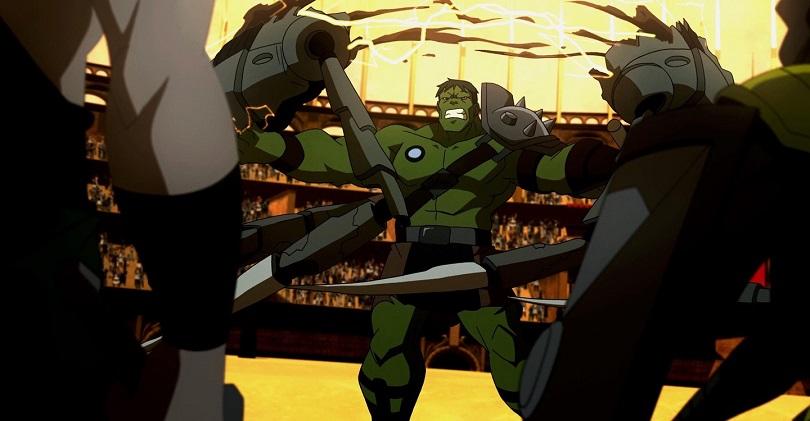 Hulk em cena de luta em Planeta Hulk
