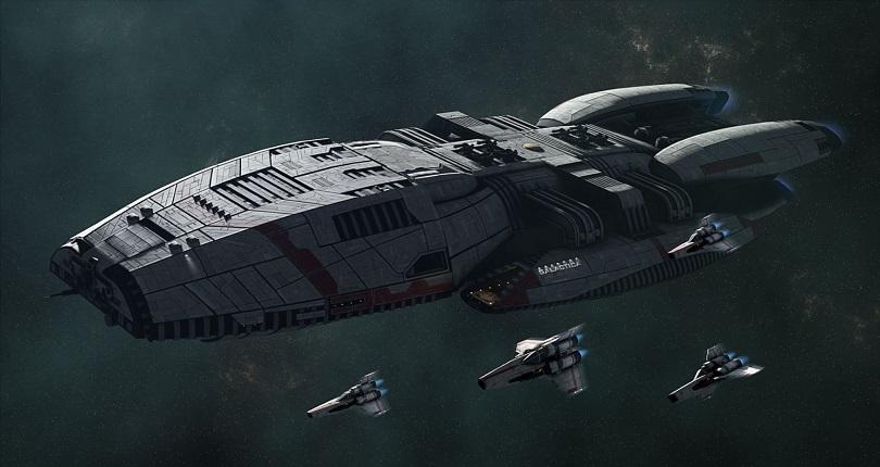 Imagem da espaçonave Battlestar Galactica