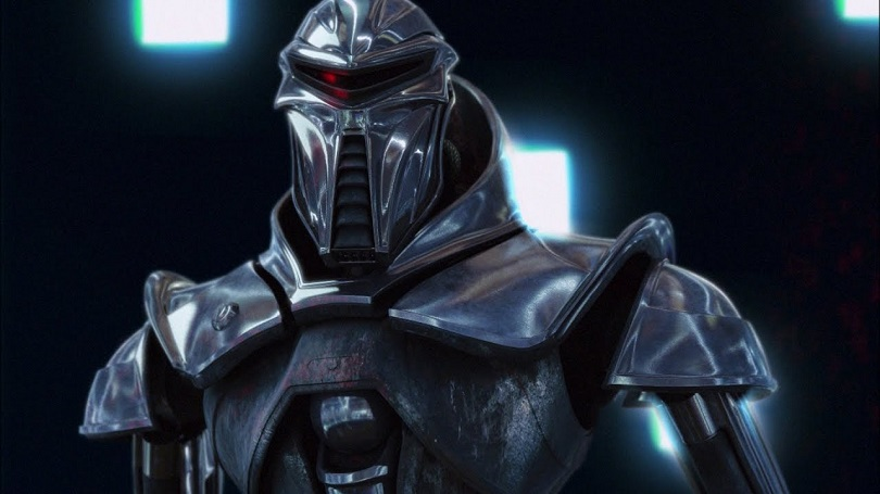 Imagem de um Cylon em Battlestar Galactica