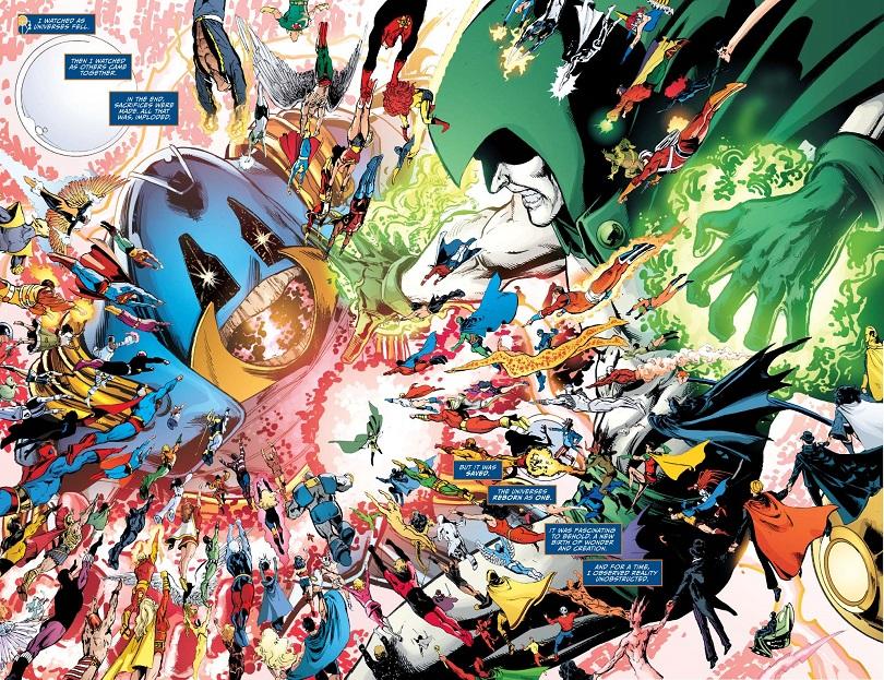 Batalha entre heróis da DC Comics em Crise nas Infinitas Terras