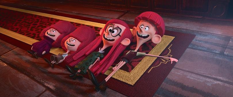 Tim, Jane e Barnaby A e B em Os Irmãos Willoughby