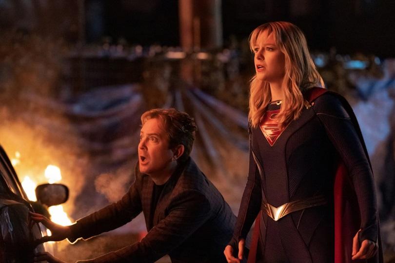 Thomas Lennon e Melissa Benoist na quinta temporada de Supergirl