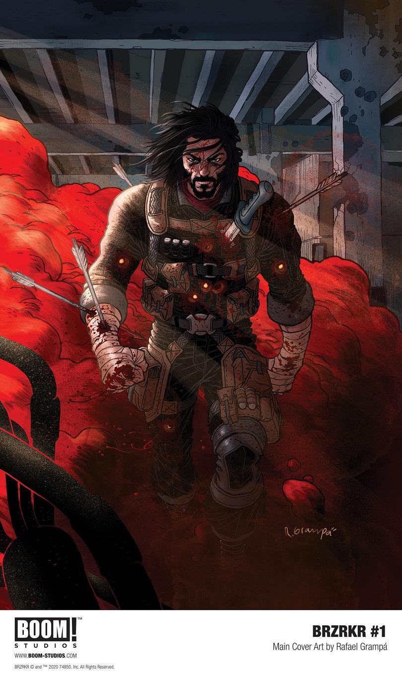 Capa BRZRKR, de Keanu Reeves