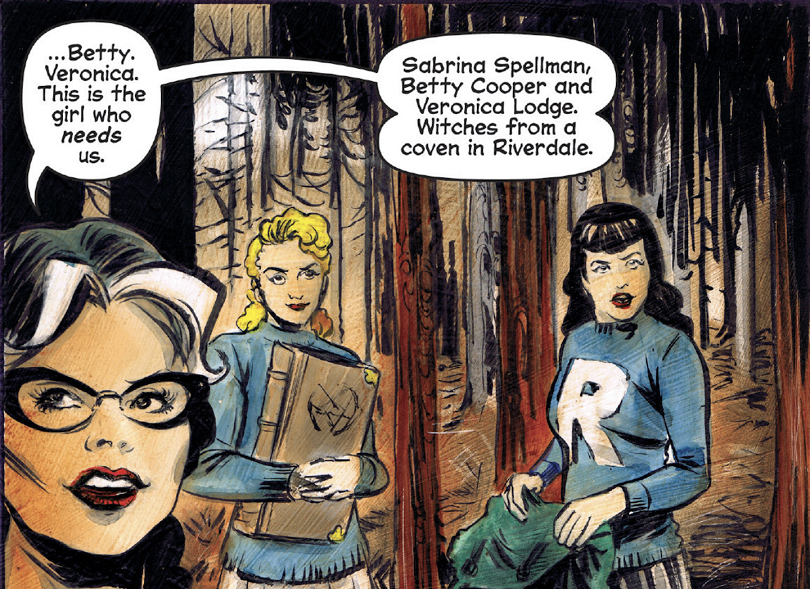 Betty e Veronica em O Mundo Sombrio de Sabrina