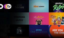 Pluto TV tela de entrada com Naruto
