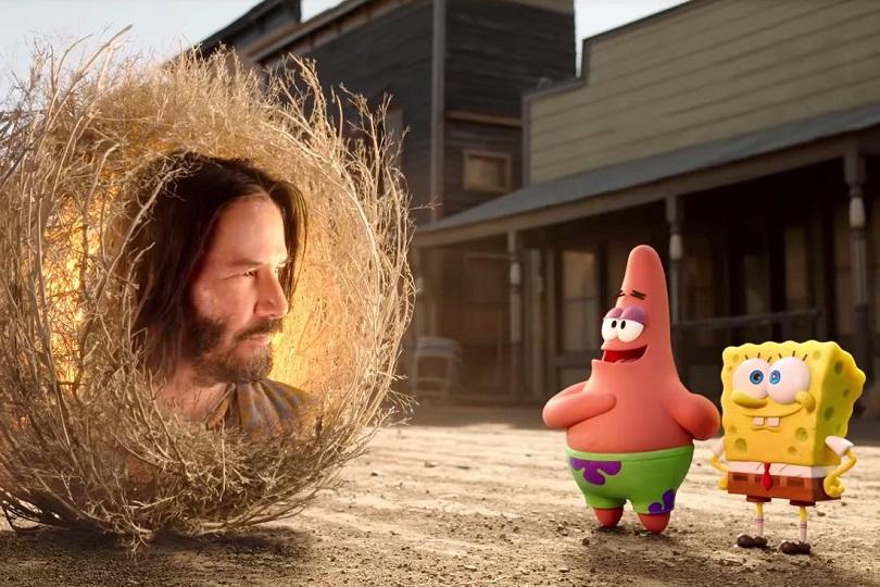 Keanu Reeves é a principal atração de Bob Esponja: O Incrível Resgate