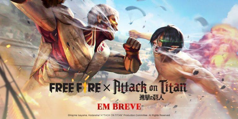 Free Fire: game anuncia evento inspirado em Attack on Titan