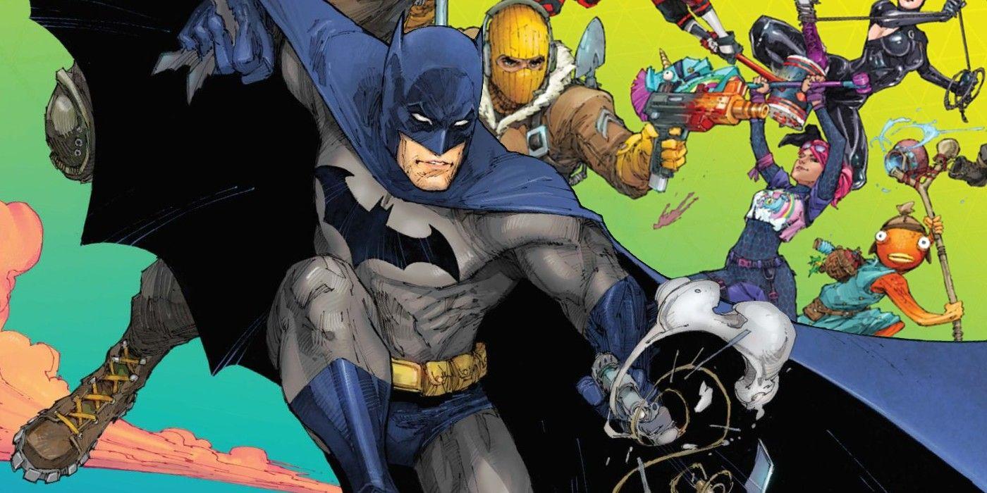 Batman/Fortnite: crossover desafia heróis da DC em arena de guerra